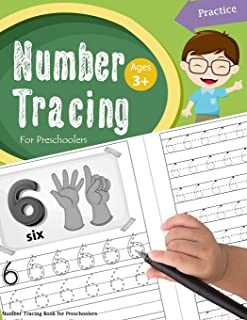 Number Tracing Book for Preschoolers: Number tracing books for kids ages 3-5, Number tracing workbook, Number Writing Prac...