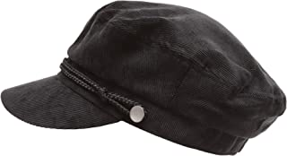 Women's Winter Greek Sailor Fisherman Cabbie Cap Newsboy Baker boy hat with Elastic Band