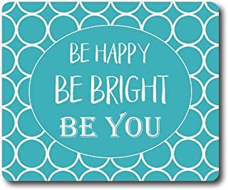 Ice Rabbit Rectangle Mouse Pad Custom Be Happy Inspirational Quote Mouse Mat Motivational Quotes Non-Slip Gaming Rubber Mousepad
