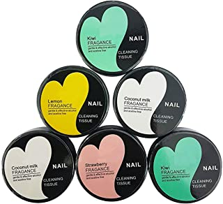 Prime Nail Polish Remover Round Wipes For Women And Girls For Home And Salon Use Set Of 6 Multi Color Pack Of 1 (M3)