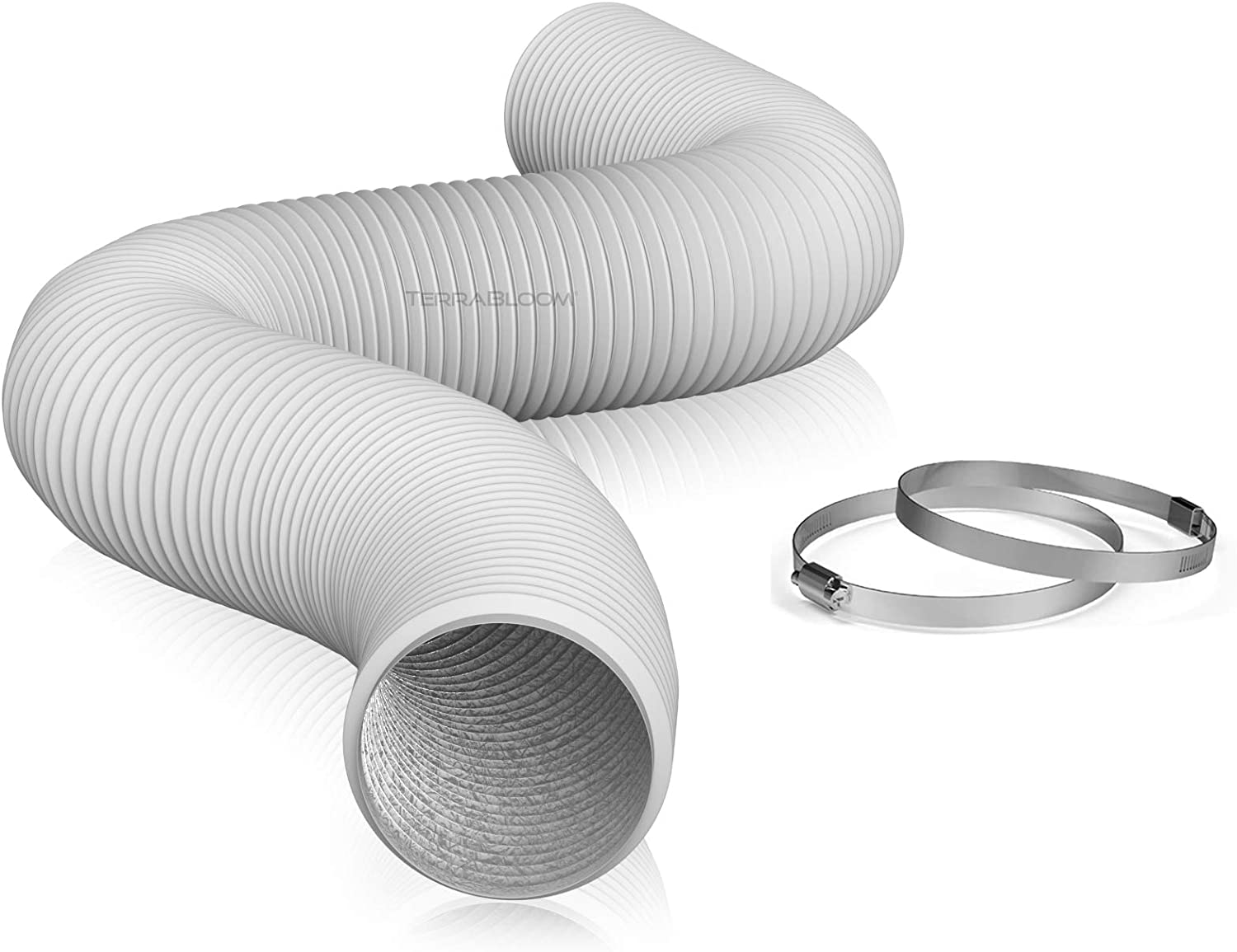 TerraBloom Fixed price for sale Flexible 6 Inch Ducting White Durable – Max 70% OFF Feet 25