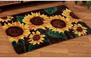 Latch Hook Kits Latch Hook Rug Embroidery Set Crocheting Arts /& Crafts for Kids and Adults Printed Canvas 43X28.3Inch 109X72cm