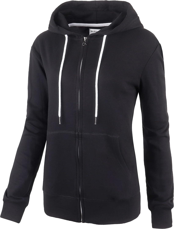 WINGSCLOGO Women's Comfy Soft Lightweight Zip Up Hoodie Long Sleeve Sweatshirt Jersey Jacket