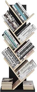 Homfa Bibliothèque Arbre Étagère à Livres Forme Arbre Artistique Casier Bibliothèque en Bois Meuble de Rangement pour Cham...