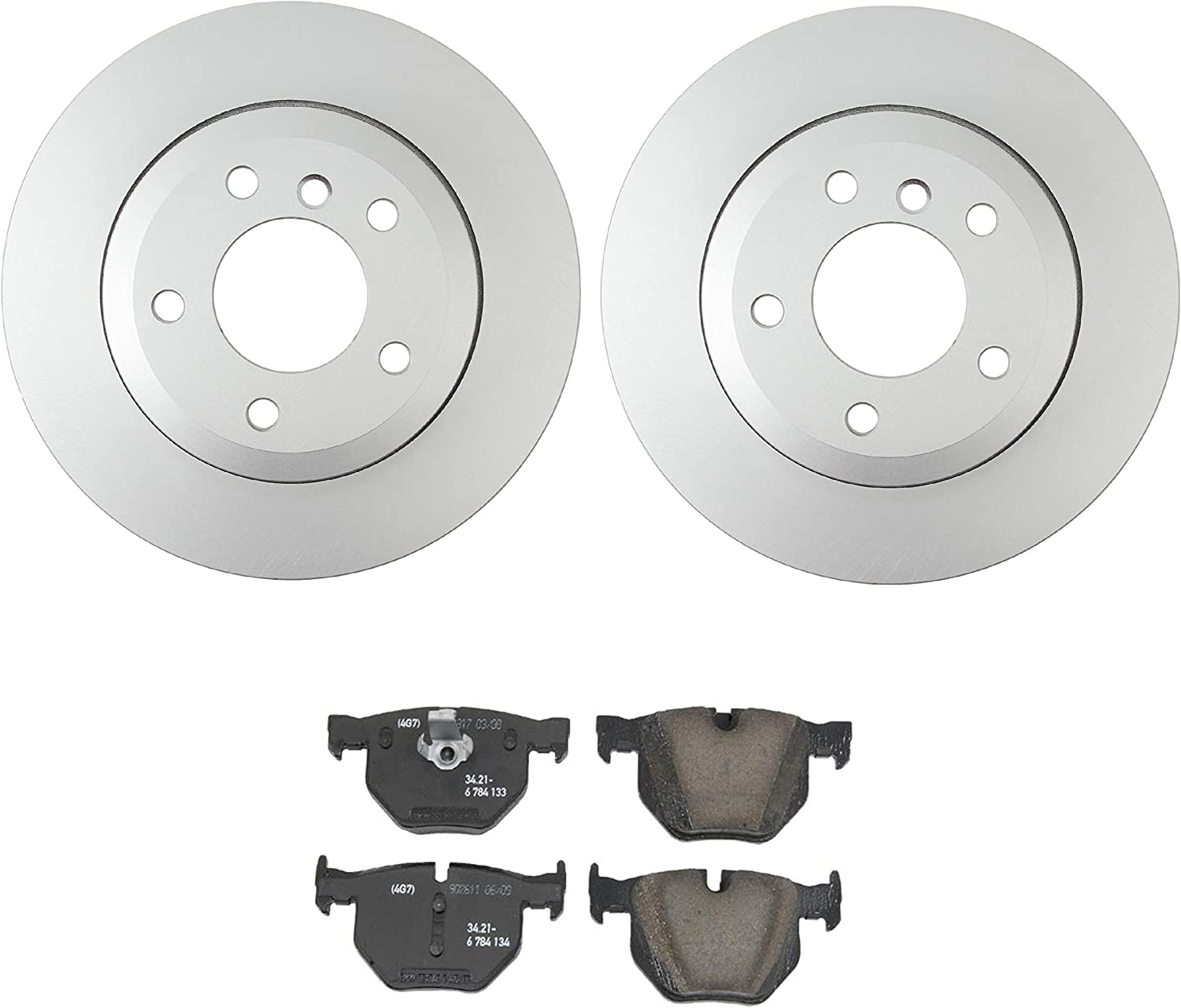 NEW Genuine Ranking TOP13 Rear Brake Kit Disc Rotors BMW Chicago Mall and Pads 528i For E60