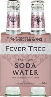 Fever Tree Soda Water, 200 ml, (Pack of 4)