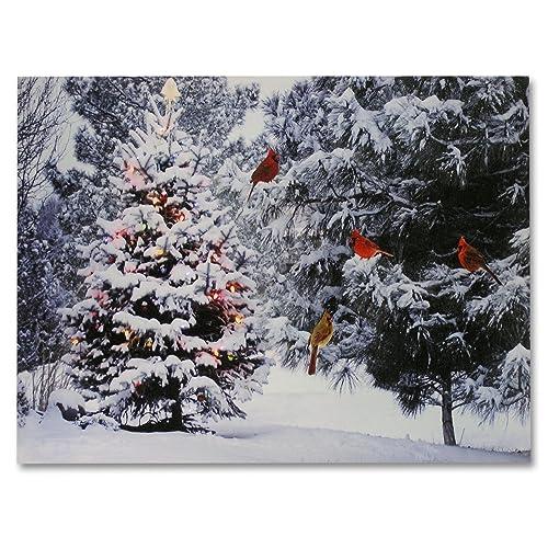 E Snowy Winter Scene Of A Cabin In Art Print Home Decor Wall Art Poster