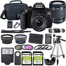بسته دوربین DSLR دوربین Canon EOS 800D (Rebel T7i) با لنز 18-55 میلی متر STM 2 عدد کیت لوازم جانبی کارت حافظه Kingston 32 GB