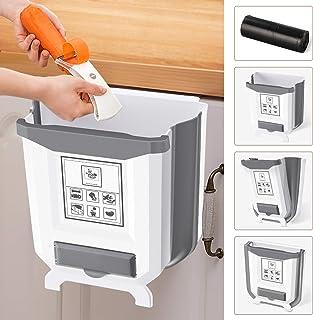 Montaje en Pared 2,4 Galones // 9L Cubo de Basura Blanco Fenteer Bote de Basura para El Hogar para El Hogar Puerta de Gabinete de Cocina