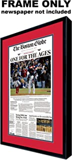 Boston Globe Newspaper Frame - with Boston Red Sox Colors Double Mat