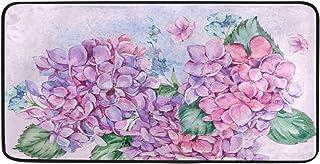 Vintage Purple Hydrangea Flowers Kitchen Mats 39 X 20 Inch Floral Bouquet Doormat Bathroom Mats Rugs No Silp Kitchen Floor...