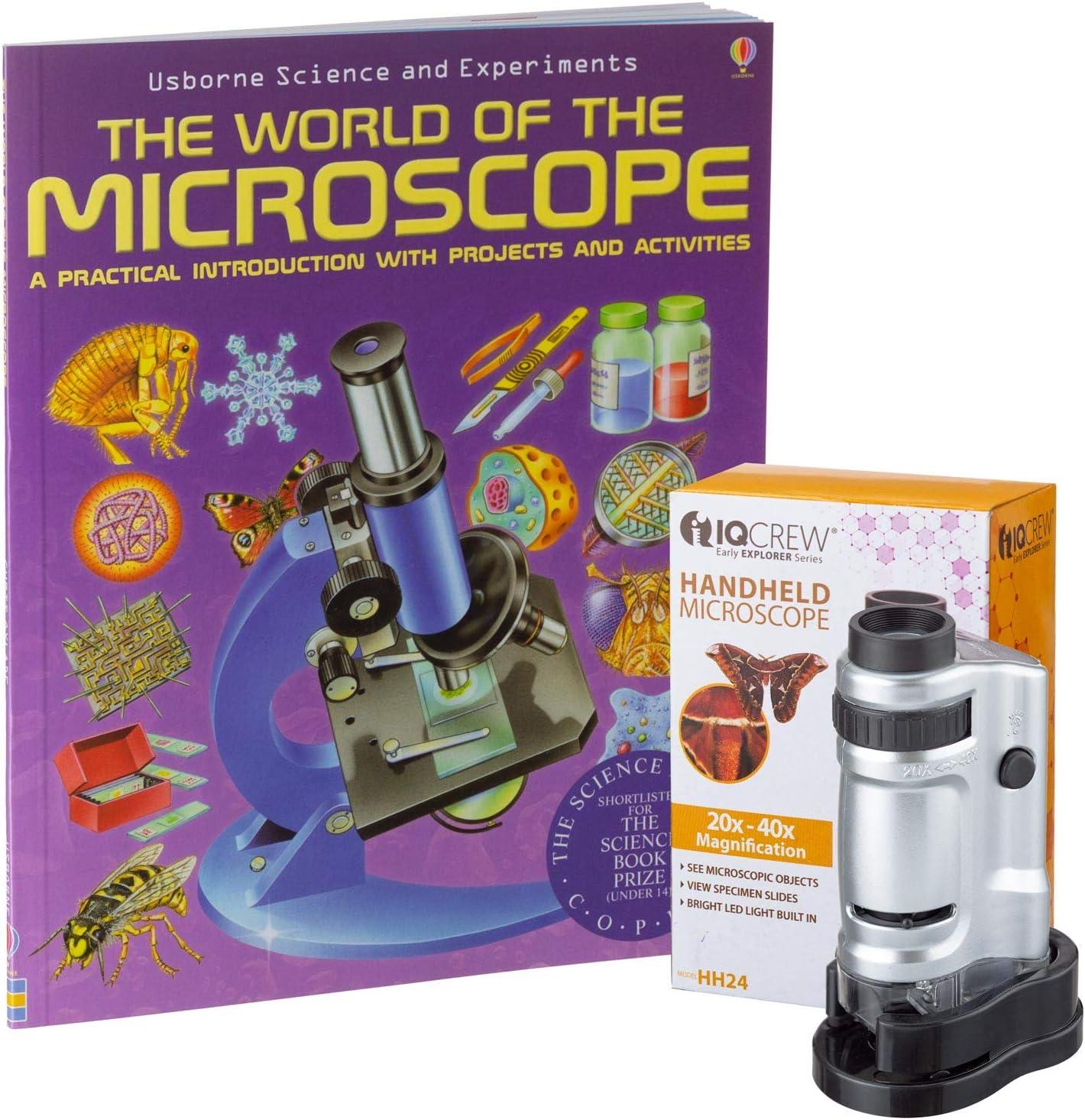 IQCrew by AmScope 20X-40X Kids Handheld LED Pocket Jacksonville Mall + supreme Microscope
