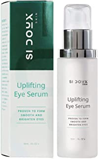 Si Doux Uplifting Eye Serum and Anti-Wrinkle Skin Brightener for Dark Bags and Circles, Fine Lines, Puffiness, and Wrinkles Improves Elasticity, Firmness, and Clarity