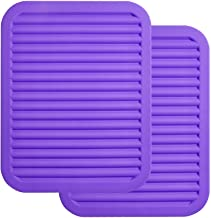 "ME.FAN 9"" x 12"" Big Silicone Trivets - Multi-purpose Silicone Pot Holders, Spoon Rest and Kitchen Table Mat - Insulated, F..."