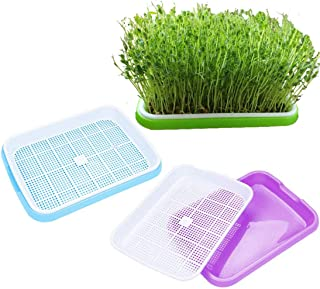 3 Pack Seed Sprouter Tray, Seed Germination Tray BPA Free Nursery Tray for Seedling Planting Garden Wheat Hydroponics