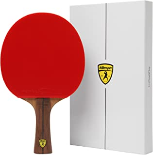 Killerspin JET800 Speed N1 Ping Pong Paddle – Professional Table Tennis Paddle| 7-Ply Wood/Carbon Fiber Blade, Nitrx Rubbers| Flared Handle Ping Pong Racket| Memory Book Gift Box Storage Case