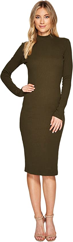 CATHERINE Catherine Malandrino - Long Sleeve Ribbed Knit Bodycon Dress