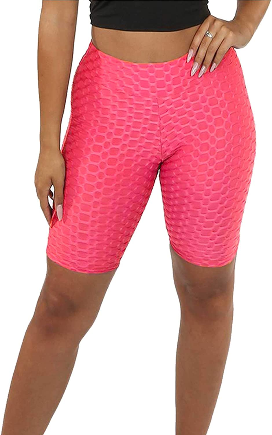 Xpose Ladies Anti Cellulite Body Enhancing Body Shaping Textured High Waist Womens Fitness Yoga Gym Shorts Black Coral Grey Pink Blue White 8 10 12 14