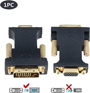 CABLEDECONN DVI naar VGA, Active DVI-D 24+1 naar VGA met chip kabel adapter converter voor PC DVD monitor HDTV