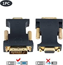 CableDeconn DVI VGA Adapter, Active DVI-D 24+1 to VGA Link Video Adapter Cable Converter for PC DVD Monitor HDTV (E0401)
