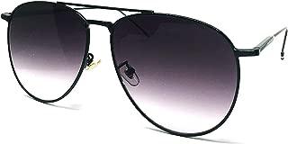 97025 Premium Oversized Flat Aviator Mirrored Sunglass Womens Mens