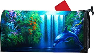 KSLIDS Unique Mailbox Covers Dolphins Mailbox Makeover Garden,Outdoor,Yard Magnetic