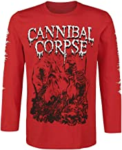 Cannibal Corpse Pile of Skulls 2018 - Camiseta de Manga Larga, Color Rojo