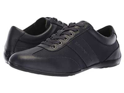 Emporio Armani Leather/Nylon Sneaker (Night) Men