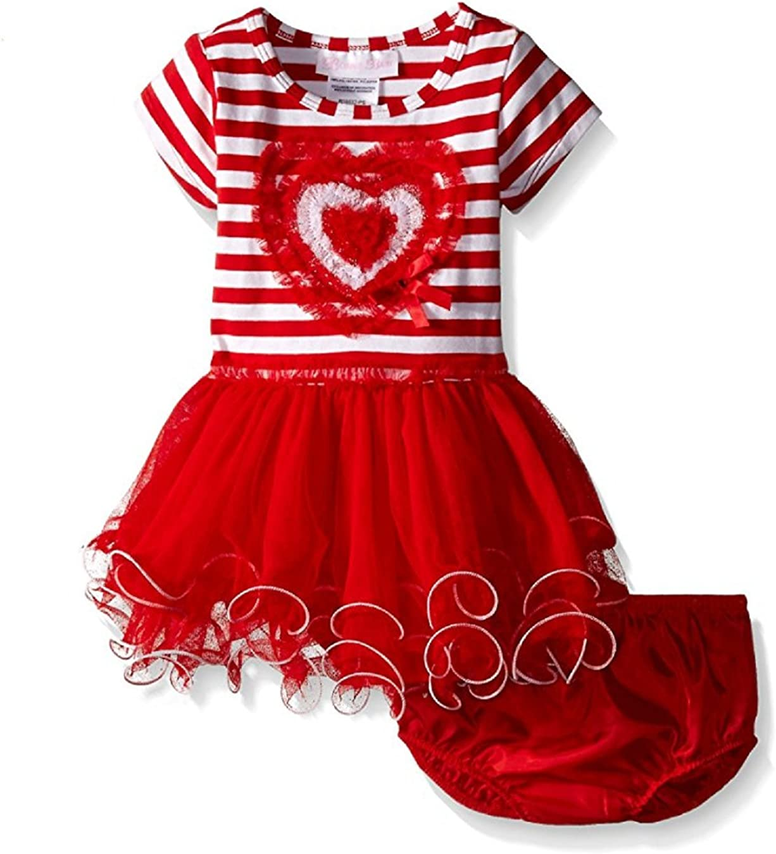 Bonnie Jean Baby Girls' Heart Applique Tutu Red Dress