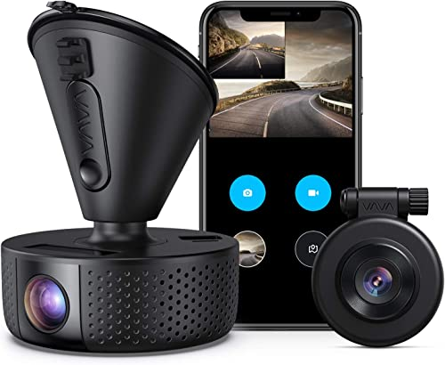 Dual Dash cam | VAVA Dual 1920x1080P FHD | Front and Rear dash camera | 2560x1440P Single Front| for cars with Wi-Fi ...