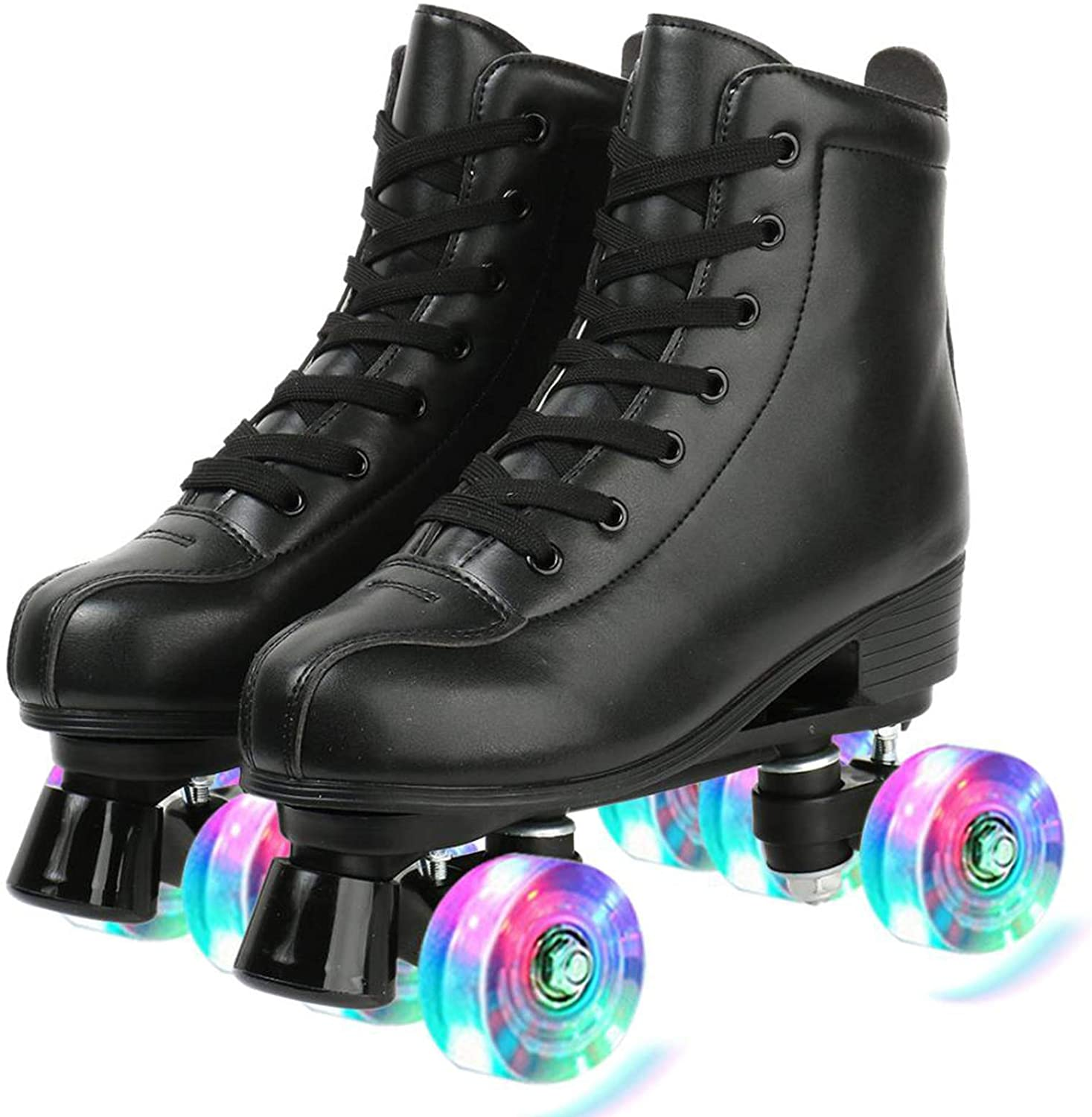 Womens Roller Skates PU Adjustable Leather Free shipping on posting reviews Light Shiny specialty shop