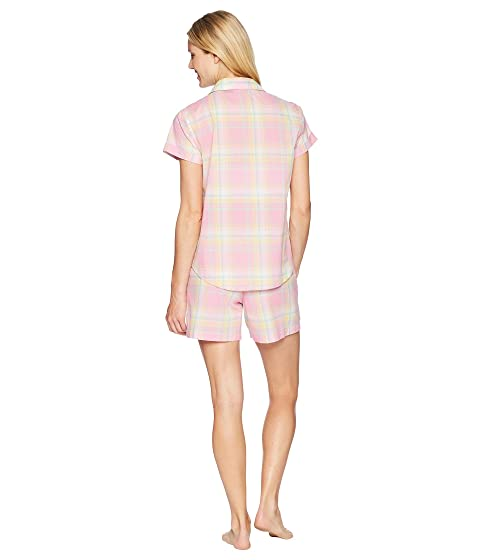 Set Camp LAUREN Pink Shirt Ralph Plaid Pijama Lauren Boxer 1qwYwEHB