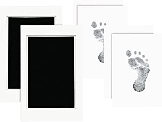 """اثر انگشت یا رد پای کودک """"Pearhead Newborn Baby Pad"""" یا """"پاکت تمیز"""" از دو جوهر ، سیاه"""