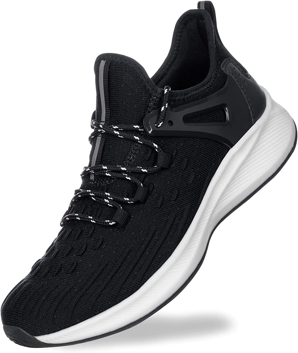 Akk Mens Walking Athletic Shoes - Comfortable Running Shoes Slip On Sneakers Breathable for Men Travel Casual Driving Workout Sports