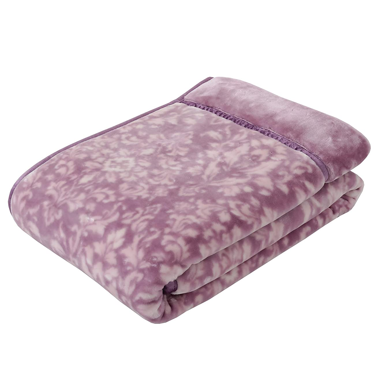 素晴らしき陽気な自殺東京西川 毛布 ピンク シングル あったか2枚合わせ マイモデル オーナメント柄 FQ08065008P