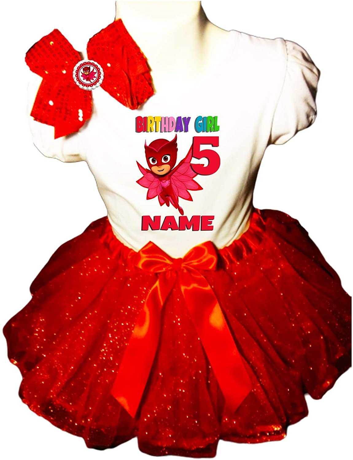 Rapid rise Owlette Birthday Party Dress Easy-to-use 5th Tutu Red Shirt Outfit
