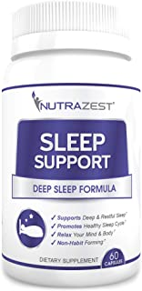 Nutrazest Sleep Support - Natural Non-Habit Forming Sleep Aid to Reduce Symptoms of Insomnia – Deep Sleep F...
