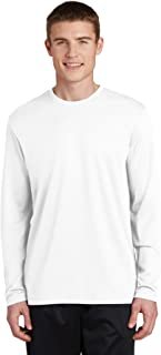 PosiCharge RacerMesh Long Sleeve Tee ST340LS, White, Large
