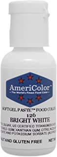 Food Coloring AmeriColor - Bright White Soft Gel Paste, .75 Ounce