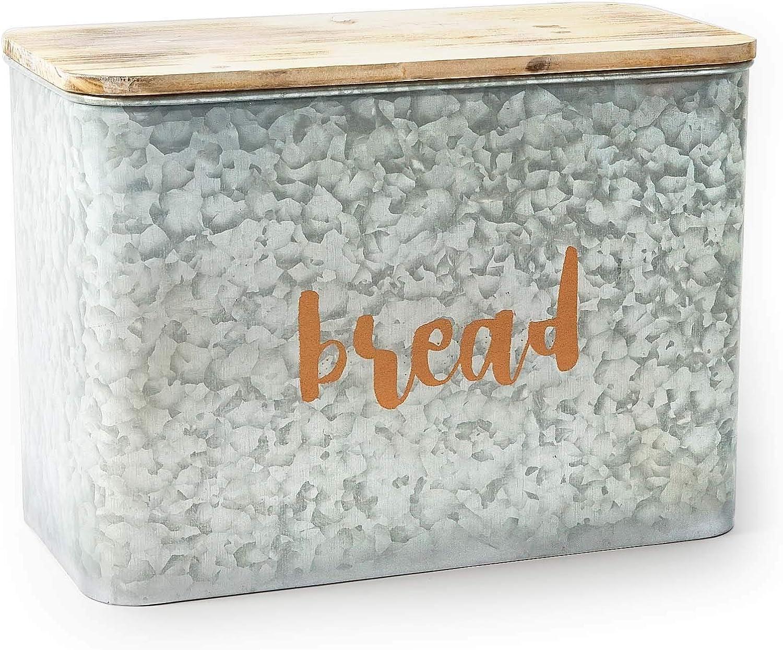 Rustic wholesale Bread Box Galvanized for Spasm price Kitchen B Boxes Countertop Retro