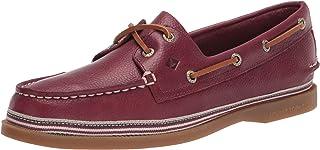 Sperry womens A/O 2 Eye Boat Shoe, Cordovan, 9 US
