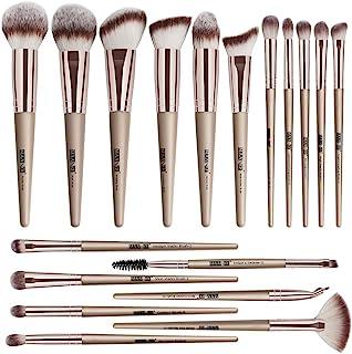 Makeup Brushes, 18 Pcs Professional Premium Synthetic Make Up Brushes, Foundation Powder Concealers Eye Shadows Makeup Brush Set (Champagne Gold)