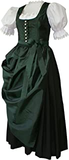 Kaiser Franz Josef Dirndl Dirndlkleid Festtracht Trachten-Kleid Trachtenkleid Elegantes Abendkleid TAFT grün mit Schürze Ballkleid dunkelgrün smaragd für Ball Fest Hochzeit Ballkleid Made in Austria