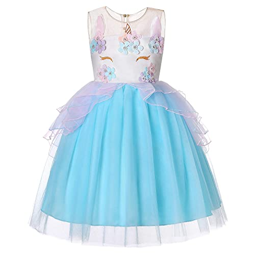 Flight Tracker Special Unicorn Costume For Girls Mask Skirt Birthday Dance Show Dresses Toy Christmas Carnival Party Costumes Costumes & Accessories Novelty & Special Use