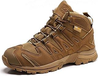 Chaussures de randonnée en plein air pour hommes Bottes militaires tactiques rétro, bottes de randonnée confortables pour ...