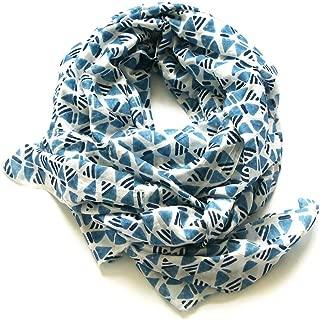 indigo handloom scarves