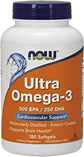 Now Foods Ultra Omega-3-180 cápsulas blandas 180 Unidades 350 g