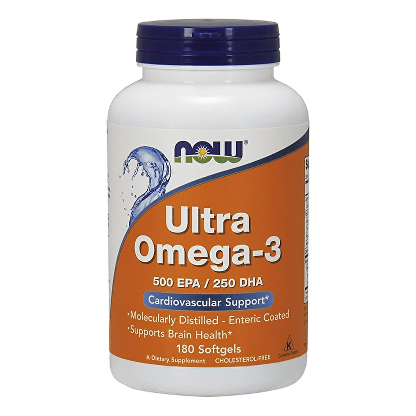 句読点サミュエルヘッジNow Ultra Omega-3 (500 EPA / 250 DHA) 180 sgels