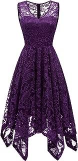 Best purple handkerchief dress Reviews