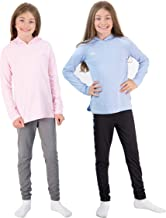Hind 4-Piece Girls Athletic Leggings and Long Sleeve Workout Hoodie Tops Set, Fashion Active Clothes for Girls